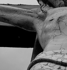 crucifix cracked