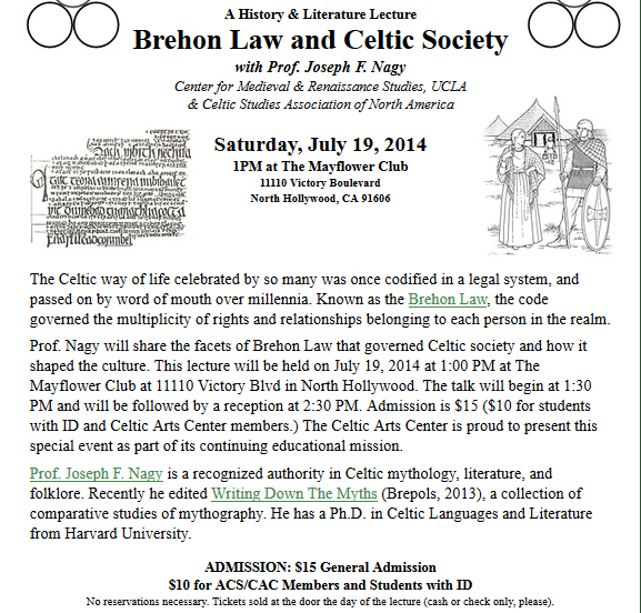 Brehon Law Lecture