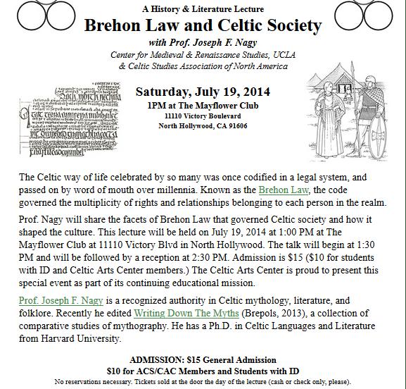 Brehon Law Lecture