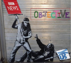 Banksy BBC v YES indyref