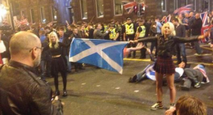 Brave young scottish women