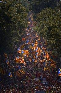 Catalonia crowds