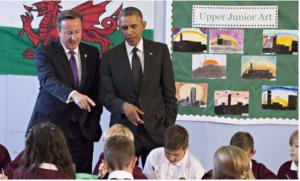 Obama wales school