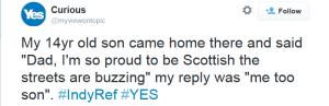 Scotland buzzing pride