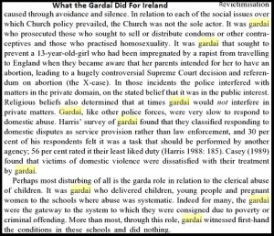 Gardaí Sexism History