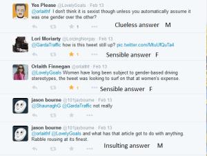 Sexist comments Garda tweet 11