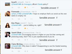 Sexist comments Garda tweet 14