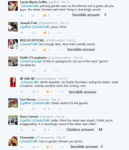 Sexist comments Garda tweet 8