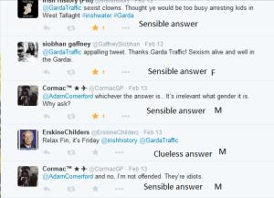 Sexist comments Garda tweet 9