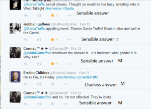 Sexist comments Garda tweet 9