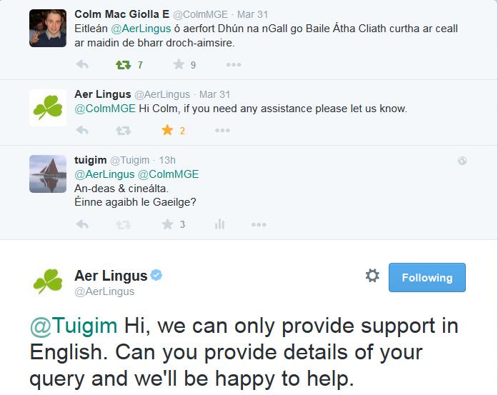Aer Lingus English