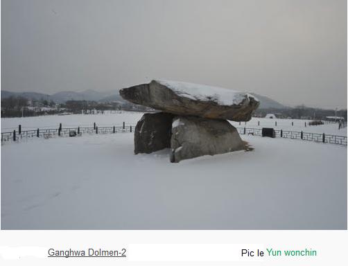 Ganghwa dolmen snow