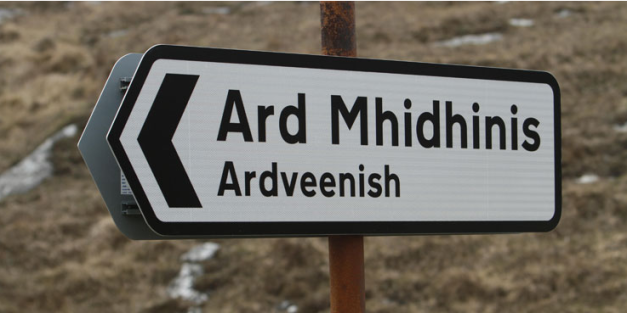 scottish road sign