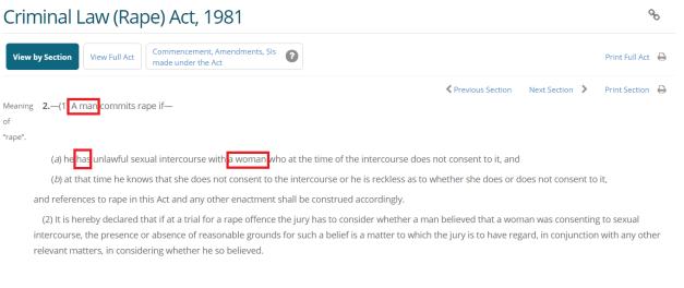 Rape definitation