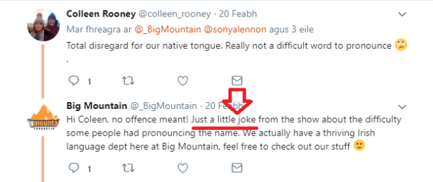 Racism Big mountain joke