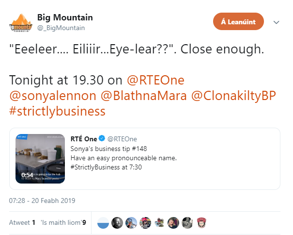Racism Irish Big Mountain