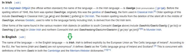 Wiki Irish