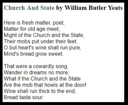 Yeats 1