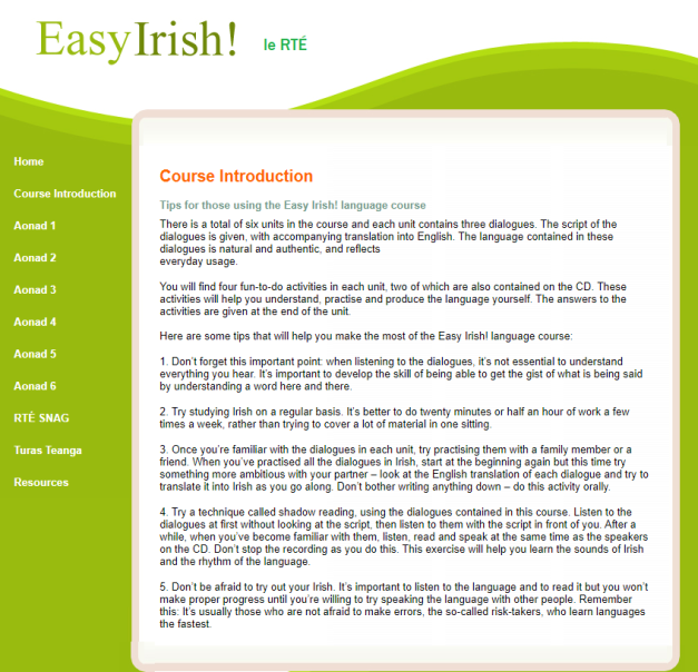 Easy Irish