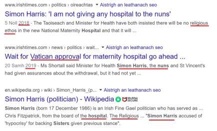 simon Harris nuns
